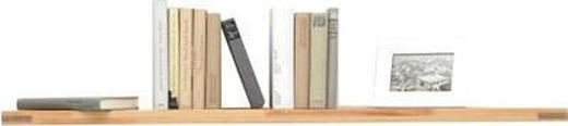 WANDBOARD Kernbuche massiv Buchefarben - Buchefarben, Design, Holz (120/3/20cm) - Carryhome