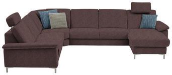 WOHNLANDSCHAFT in Textil Braun  - Alufarben/Braun, Design, Textil/Metall (265/333/170cm) - Dieter Knoll