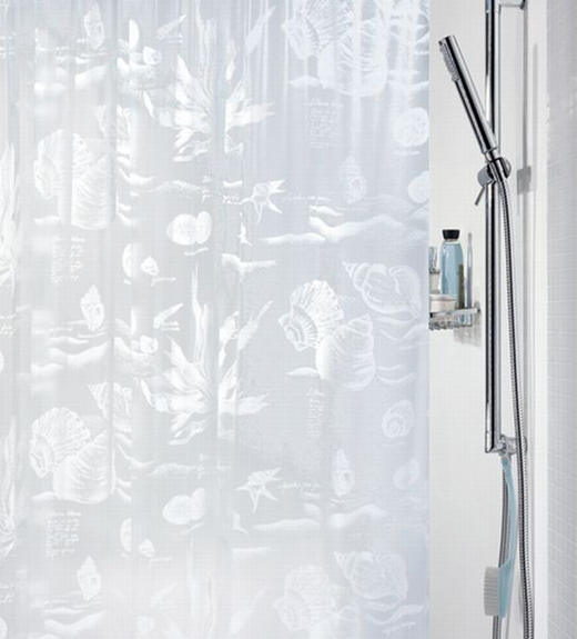 DUSCHVORHANG  Weiß 180/200 cm - Weiß, Basics, Kunststoff (180/200cm) - SPIRELLA