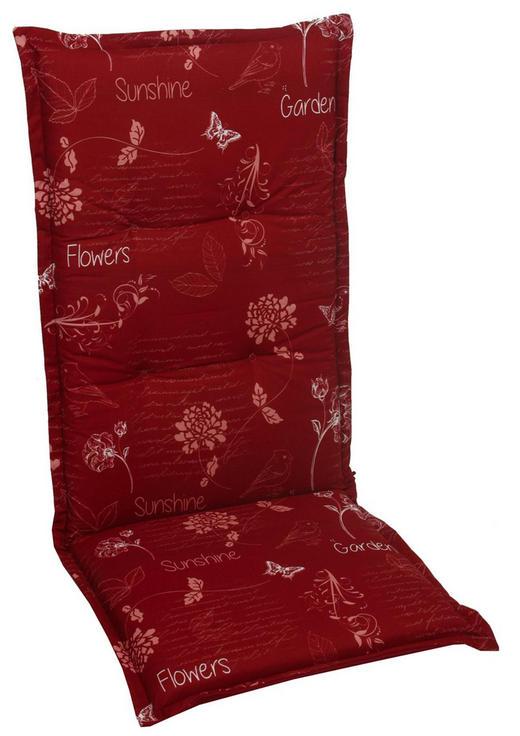 SESSELAUFLAGE Floral - Rot, Design, Textil (50/120/6cm)