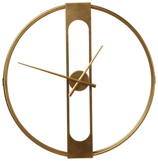 WANDUHR  Goldfarben - Goldfarben, Trend, Metall (60/10cm) - Kare-Design