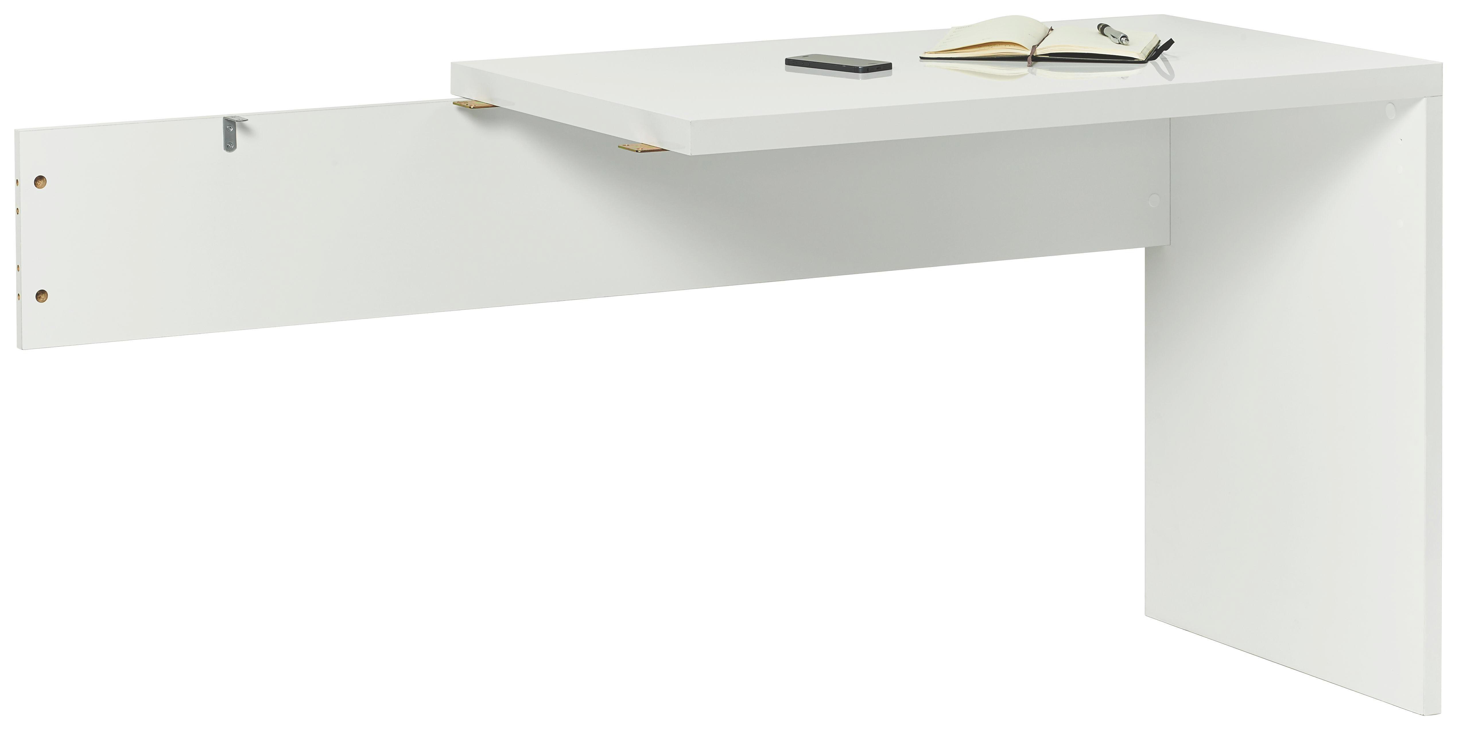 DESKA ROHOVÉHO SPOJE - bílá, Design, dřevěný materiál (100/75/58cm) - CARRYHOME