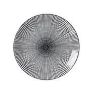 Steinzeug  DESSERTTELLER  rund - Schwarz/Weiß, Basics, Keramik (21,5cm) - Ritzenhoff Breker