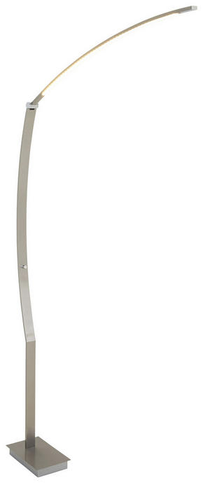 BÖJD LAMPA - nickelfärgad, Design, metall (50/140cm)