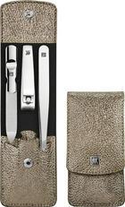 MANIKÜRESET - Silberfarben, Basics, Leder/Metall - Zwilling