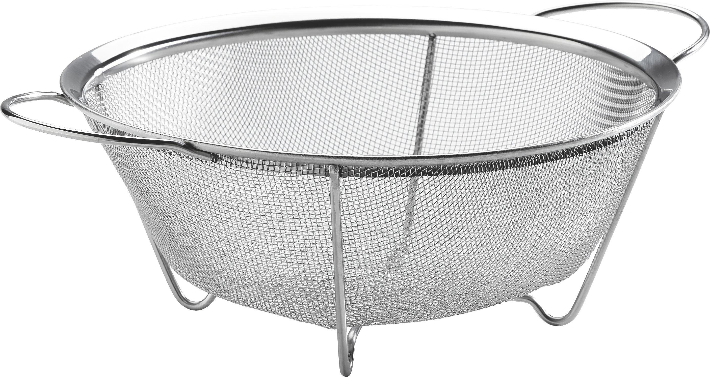KUHINJSKO CEDILO - barve nerjavečega jekla, Konvencionalno, kovina (22cm) - JUSTINUS