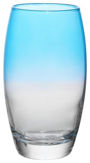 LONGDRINKGLAS - klar/turkos, Trend, glas (6,6/14,5cm) - Homeware