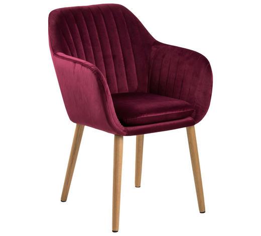 ARMLEHNSTUHL in Bordeaux - Bordeaux, Design, Holz/Textil (57/83/59cm) - Carryhome