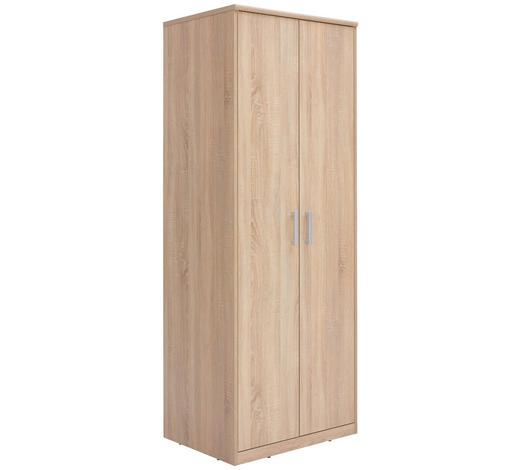 SKŘÍŇ ŠATNÍ, Sonoma dub - barvy stříbra/Sonoma dub, Konvenční, kov/kompozitní dřevo (72/194/54cm) - Xora