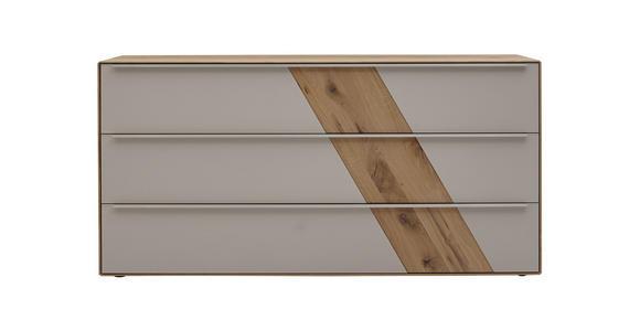 SIDEBOARD Buche massiv Schlammfarben, Buchefarben  - Schlammfarben/Edelstahlfarben, Design, Glas/Holz (182/90/47cm) - Valnatura