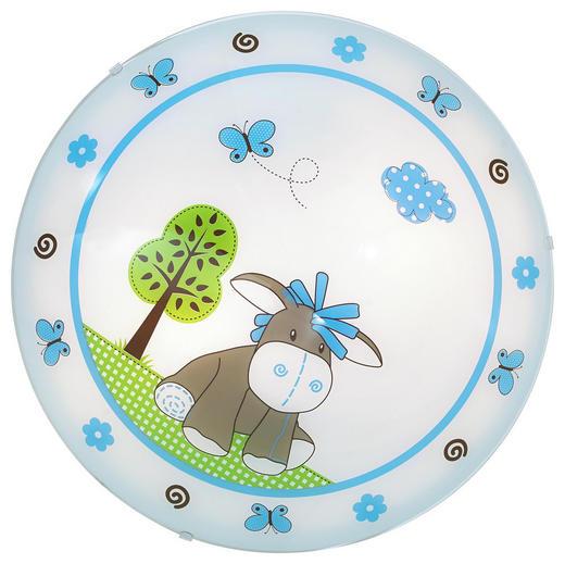 OTROŠKA SVETILKA DIEGO, MODRA - modra/bela, Konvencionalno, kovina/steklo (39,5cm) - My Baby Lou
