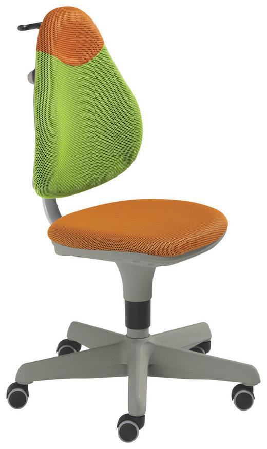 OTOČNÁ ŽIDLE - oranžová/zelená, Basics, dřevo/textilie (44cm) - Paidi