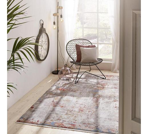 VINTAGE-TEPPICH  160/230 cm  Blau, Gelb, Orange, Weiß   - Blau/Gelb, Design, Textil (160/230cm) - Dieter Knoll