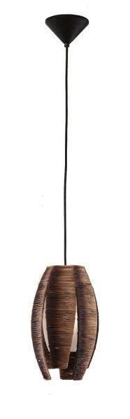 HÄNGELEUCHTE - Braun, KONVENTIONELL, Textil/Metall (19cm)