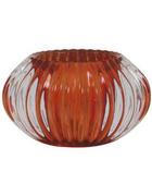 TEELICHTGLAS - Orange, Design, Glas (11/6,5cm)
