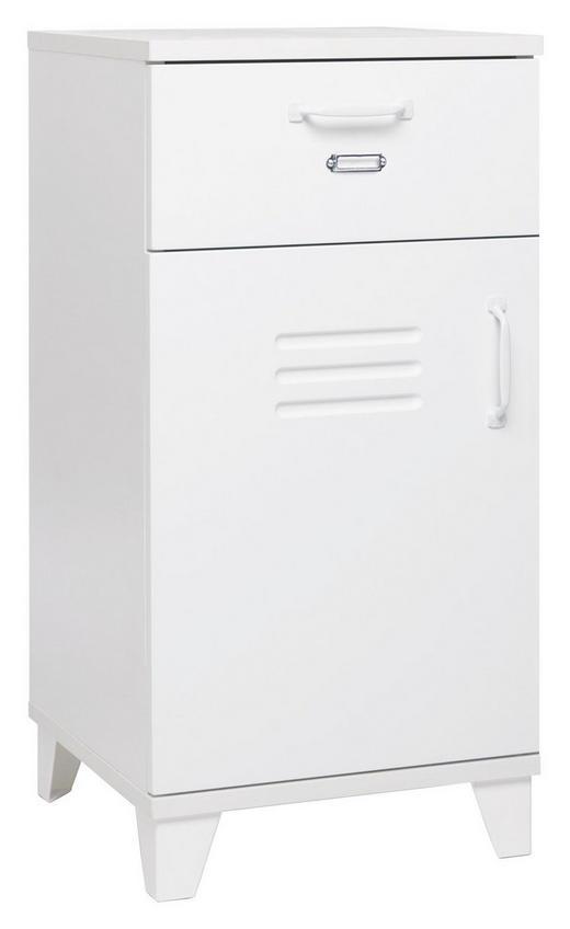 KOMMODE foliert, lackiert Weiß - Weiß, Design, Holzwerkstoff/Metall (40/80/40cm) - Carryhome