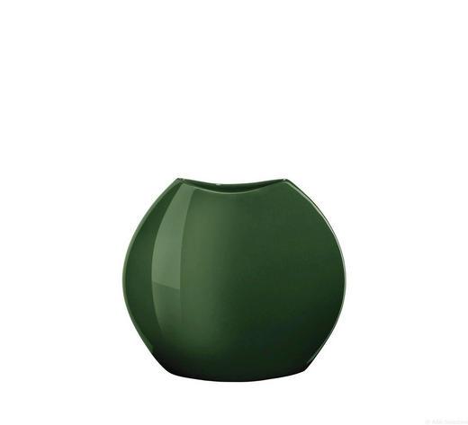 VASE - Grün, Keramik (16/16/6,5cm) - ASA