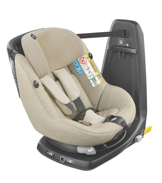 Kinderautositz Axissfix - Sandfarben, Basics, Kunststoff/Textil (44,5/65/55cm) - Maxi-Cosi