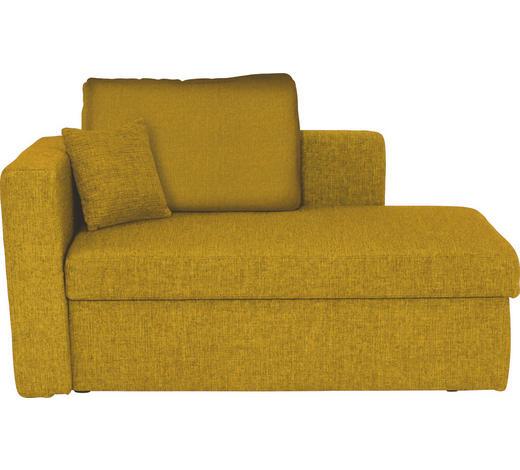 LIEGE in Textil Gelb - Gelb/Schwarz, Design, Kunststoff/Textil (142/90/87cm) - Novel