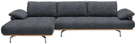 WOHNLANDSCHAFT Chenille Rücken echt, Rückenkissen - Chromfarben/Graphitfarben, Design, Holz/Textil (168/314cm) - DIETER KNOLL