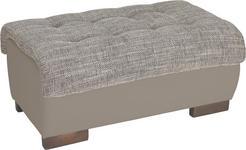 HOCKER in Textil Braun, Grau  - Wengefarben/Braun, Design, Holz/Textil (98/43/66cm) - Carryhome
