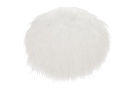 SITZKISSEN Weiß 40 cm - Weiß, Textil (40cm)