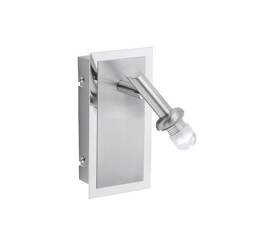 LED-WANDLEUCHTE - Chromfarben/Nickelfarben, Design, Metall (16/8/12cm)