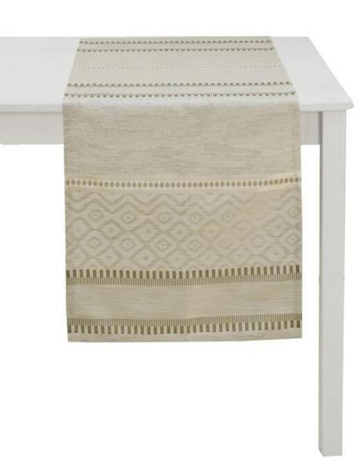 TISCHLÄUFER Textil Jacquard Beige 45/140 cm - Beige, Basics, Textil (45/140cm) - Ambiente