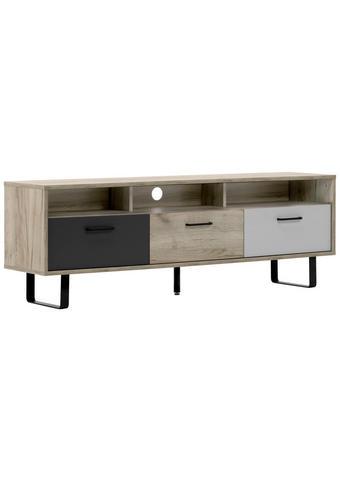 KOMODA - NISKA - bijela/boje hrasta, Moderno, drvni materijal/metal (160,3/53/35cm) - Carryhome
