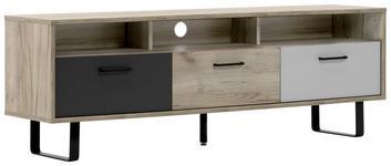 LOWBOARD 160,3/53/35 cm  - Eichefarben/Anthrazit, MODERN, Holzwerkstoff/Metall (160,3/53/35cm) - Carryhome
