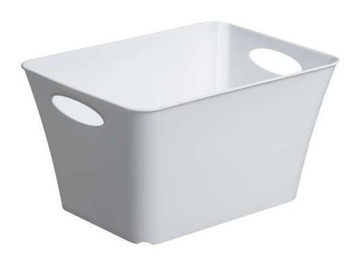 BOX Kunststoff Weiß - Weiß, Basics, Kunststoff (35,5/26/19,2cm)