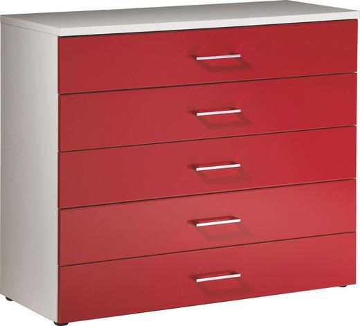 KOMMODE Rot, Weiß - Rot/Weiß, Design (100/84/39,5cm) - Welnova