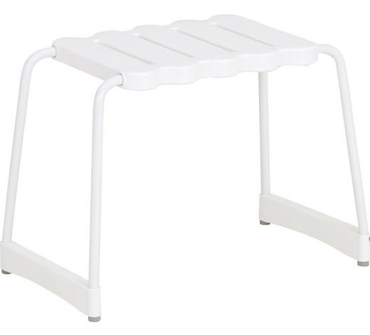 BADHOCKER Metall, Kunststoff - Weiß, Basics, Kunststoff/Metall (40cm)