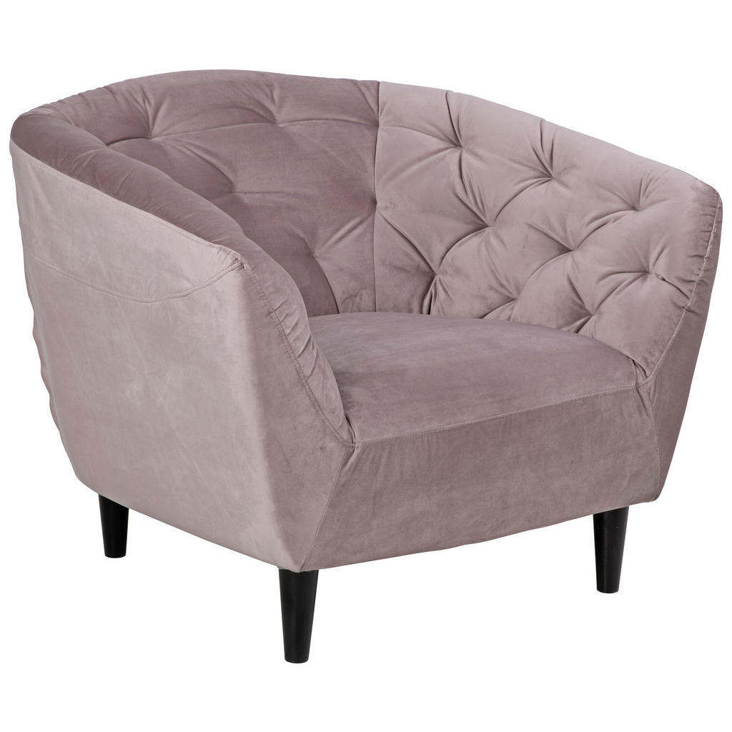 Ambia Home CHESTERFIELD-SESSEL Samt Rosa