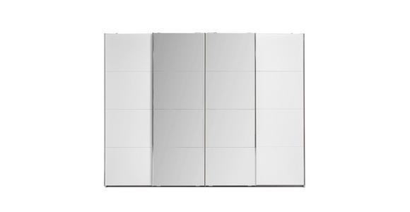 Schwebetürenschrank Bensheim B:316cm Weiß Dekor/ Spiegel - Weiß, MODERN, Holzwerkstoff (316/211/62cm) - James Wood