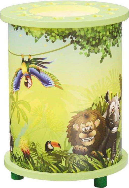 KINDERTISCHLEUCHTE - Multicolor/Grün, KONVENTIONELL, Holz/Kunststoff (15/25cm)