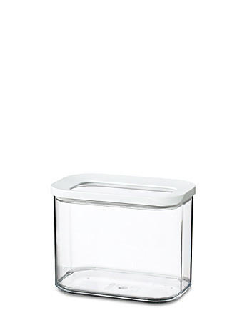 VORRATSDOSE 1 L - Transparent/Weiß, Basics, Kunststoff (1l) - Mepal Rosti