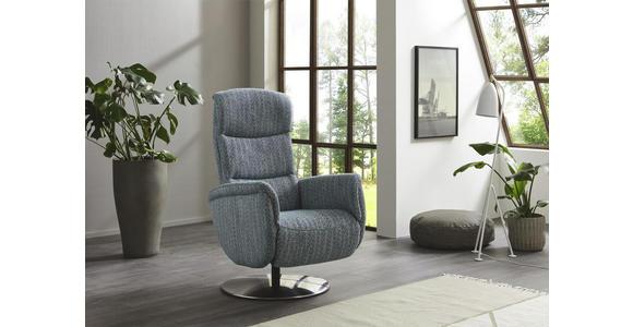 RELAXSESSEL in Textil Grau  - Chromfarben/Grau, Design, Textil/Metall (71/110/83cm) - Dieter Knoll