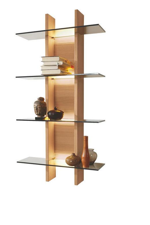 HÄNGEELEMENT Kernbuche massiv Buchefarben - Buchefarben, Design, Glas/Holz (60/127,3/22,4cm) - Musterring