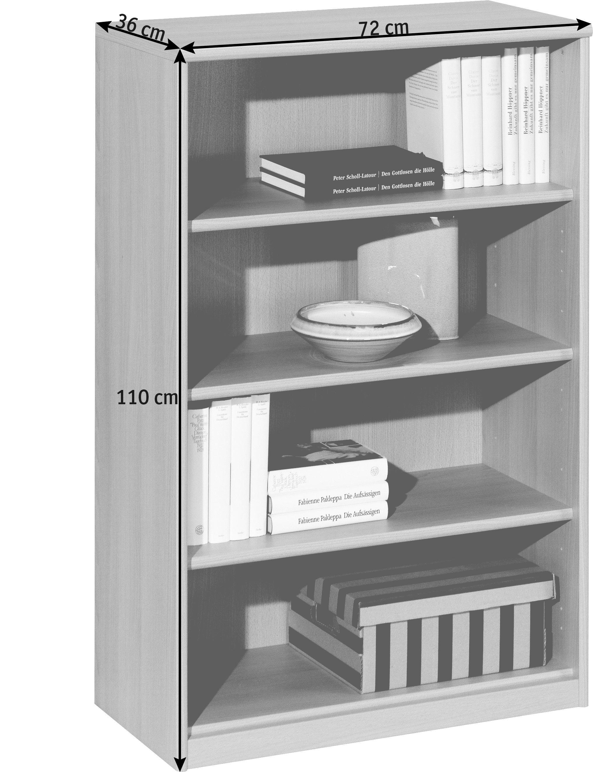 REGAL in 72/110/36 cm Buchefarben - Buchefarben, KONVENTIONELL, Holzwerkstoff (72/110/36cm) - CS SCHMAL