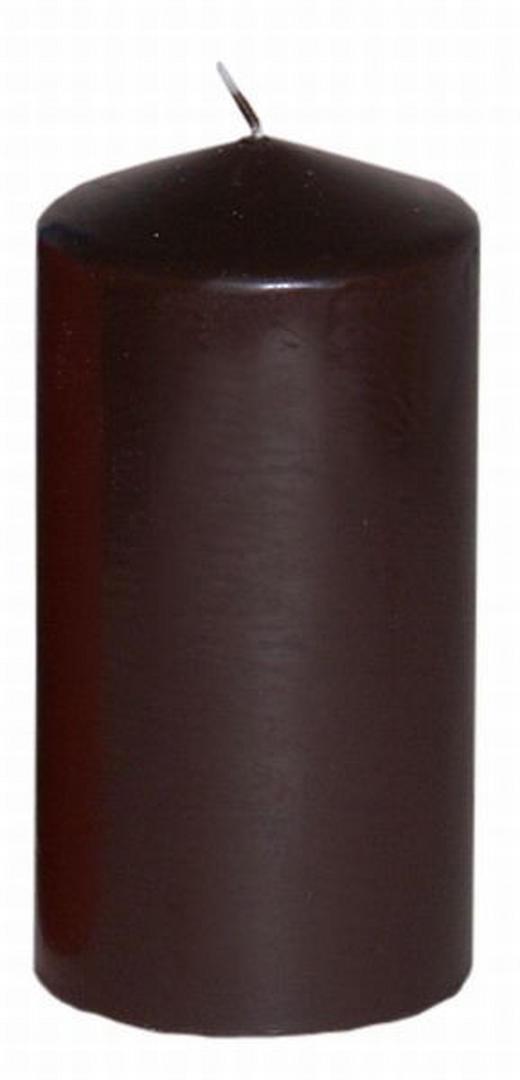 STUMPENKERZE 7,7/15 cm - Braun, LIFESTYLE (7,7/15cm)