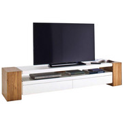 TV-ELEMENT - bela, Design, leseni material/les (200/40/40cm) - Xora