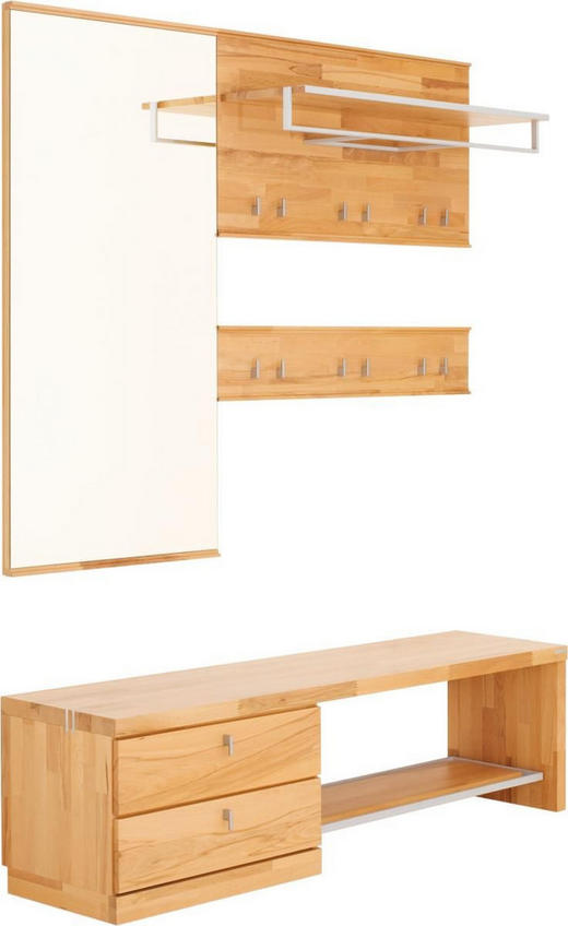 GARDEROBE Buchefarben - Buchefarben, Design, Glas/Holz (160/200/38cm) - Linea Natura