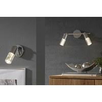 LED-STRAHLER - Chromfarben, Design, Glas/Metall (36/18/8cm)