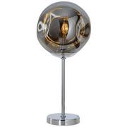 LAMPA STOLNÍ - šedá/barvy chromu, Design, kov/sklo (24/51cm) - Dieter Knoll