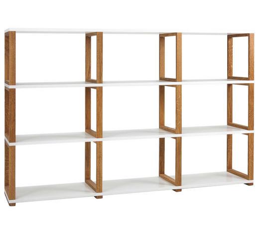 REGAL Eiche Weiß, Eichefarben  - Eichefarben/Weiß, Design, Holz/Holzwerkstoff (178/118/36cm)
