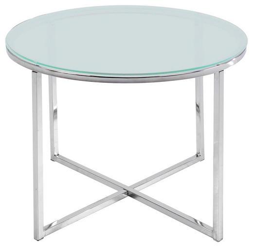BEISTELLTISCH in Klar - Chromfarben/Klar, Design, Glas/Metall (50/50cm) - Carryhome