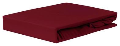 Spannleintuch Jardena 180x200 cm - Bordeaux, KONVENTIONELL, Textil (180-200/200cm) - Ombra