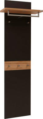 GARDEROBENPANEEL - Dunkelbraun/Buchefarben, Design, Holz (60/186/32cm) - Dieter Knoll