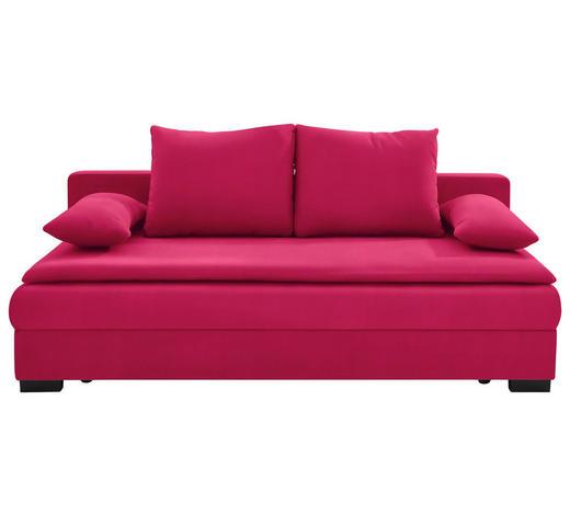 SCHLAFSOFA in Textil Rot  - Rot/Schwarz, KONVENTIONELL, Kunststoff/Textil (207/74-94/90cm) - Venda